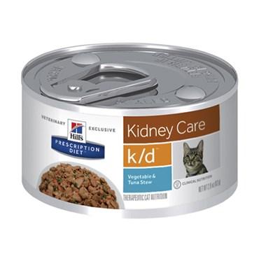 Ração Úmida Hills Feline K/D Cuidado Renal Atum e Vegetais Lata 82g