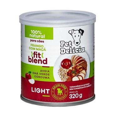 Ração Úmida Natural Pet Delícia Fit Blend Light Frango Com Maçã Para Cães Adultos Lata 320g