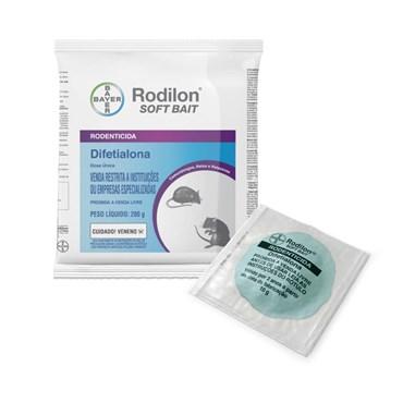Raticida Rodilon Soft Bait 10 Iscas de 20g cada - Bayer