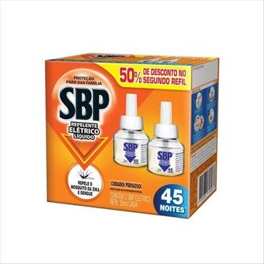 Refil SBP Para Repelente Eltétrico 2 Unidades 45 Noites