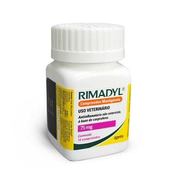 Rimadyl 75mg  Anti-inflamatório Mastigavel - 14 Comprimidos - Zoetis