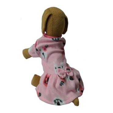 Roupinha Vestido De Soft Com Laço Para Cachorro - Impactus Pet