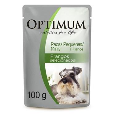 Sachê Alimento Úmido Optimum para Cães Adultos Raças Pequenas 100 g