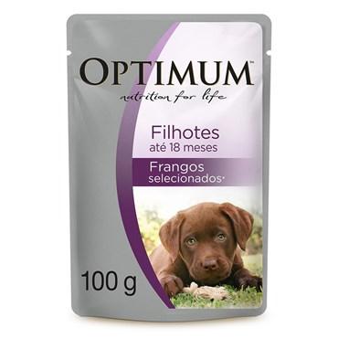Sachê Alimento Úmido Optimum para Cães Filhotes 100 g