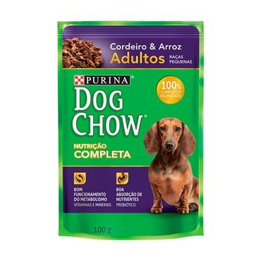 Sachê Dog Chow para Cães Adultos de Raças Pequenas Sabor Cordeiro 100g
