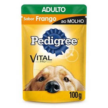 Sachê Pedigree para Cães Adultos Sabor Frango ao Molho 100g