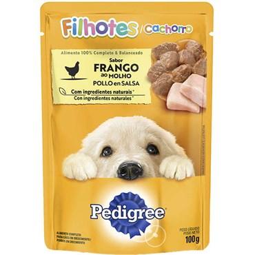 Sachê Pedigree para Cães Filhotes Sabor Frango ao Molho 100g