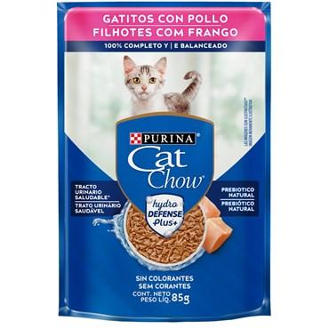 Sachê Purina Cat Chow Gatos Filhotes Sabor Frango ao Molho 85 g