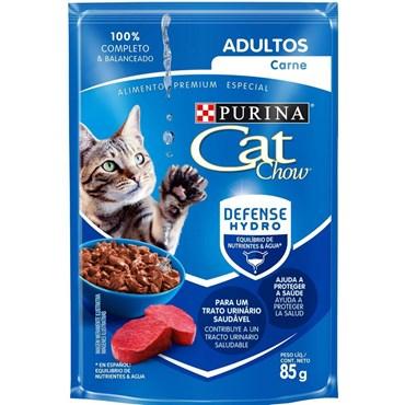 Sachê Purina Cat Chow para Gatos Adultos Sabor Carne 85 g