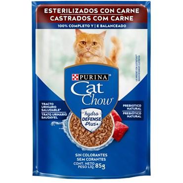 Sachê Purina Cat Chow para Gatos Castrados Sabor Carne 85 g