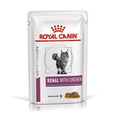 Sachê Ração Royal Canin Vet Diet Feline Renal para Gatos 85 g