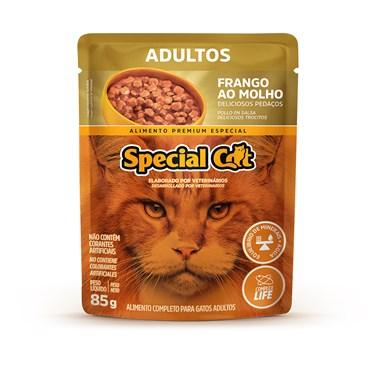 Sachê Special Cat para Gatos Adultos Sabor Frango ao Molho 85 g
