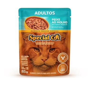 Sachê Special Cat para Gatos Adultos Sabor Peixe ao Molho 85 g