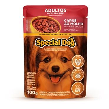 Sachê Special Dog para Cães Adultos de Raças Pequenas Sabor Carne ao Molho 100 g