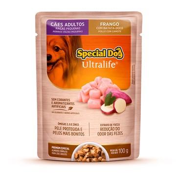 Sachê Special Dog para Cães Adultos Raças Pequenas Sabor Frango ao Molho 100 g