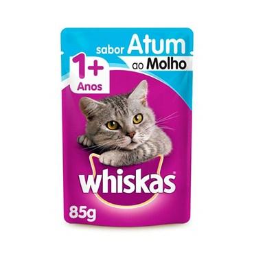 Sachê Whiskas para Gatos Acima de 1 Ano Sabor Atum ao Molho 85g