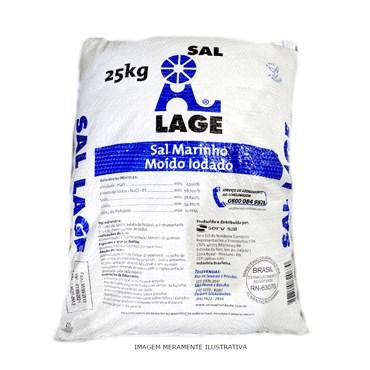 Sal Marinho Comum Iodado Para Alimentação Animal 25kg - Serv Sal