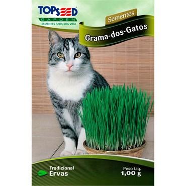 Semente de Grama dos Gatos 1g TOPSEED