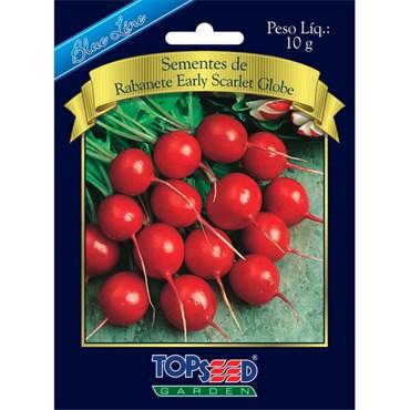Semente de Rabanete Early Scarlet Globe 10g TOPSEED