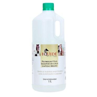 Shampoo Equide para Cavalos Pelo e Brilho Plus de Coco  1 litro