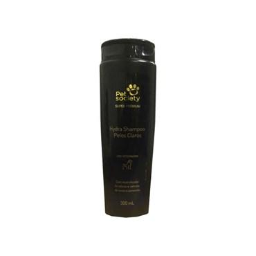 Shampoo Hydra Pelos Claros Super Premium para Cães e Gatos 300ml - Pet Society