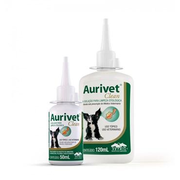 Solução para Limpeza Auricular Aurivet Clean para Cães e Gatos 120 ml Vetnil