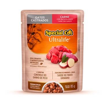 Special Cat Sachê Gatos Adultos Castrados Carne ao Molho 85 g