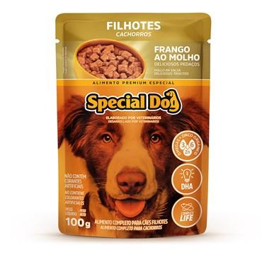 Special Dog Sachê Cães Filhotes Frango ao Molho 100 g