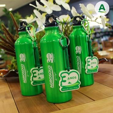 Squeeze de Alumínio Premium Agrosolo com Chaveiro 500ml