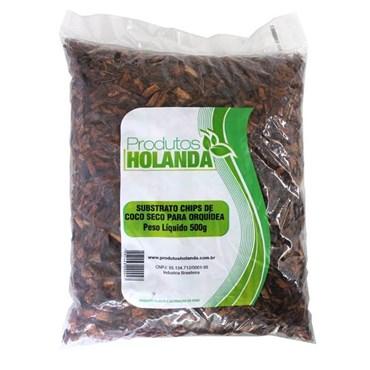 Substrato Chips de Coco Seco Para Orquídeas 250g - Produtos Holanda