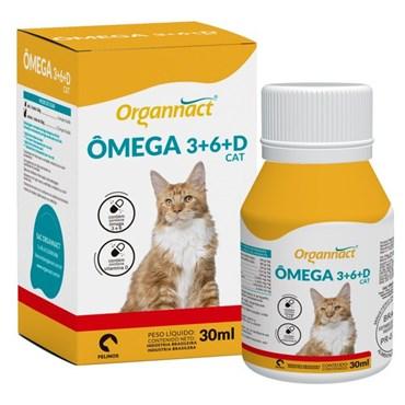 Suplemento Mineral Organnact Ômega 3 e 6 + Vitamina D para Gatos 30 ml