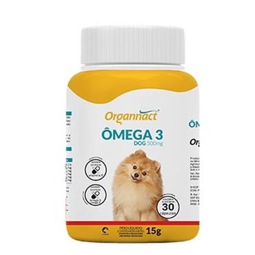 Suplemento Ômega 3 Dog Organnact para Cães 500 mg com 30 cápsulas