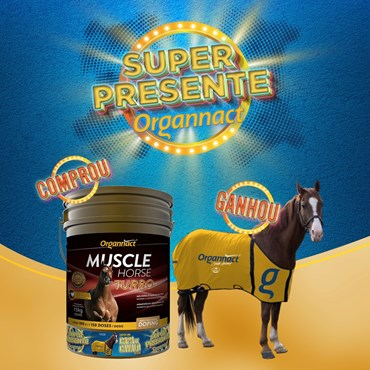 Suplemento Vitamínico Muscle Horse Turbo 15 Kg - Ganhe Capa Para Cavalo