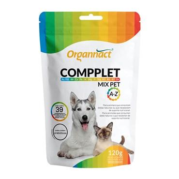 Suplemento Vitamínico Organnact Compplet Mix Pet A-Z  para Cães e Gatos 120g