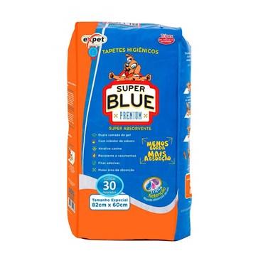 Tapete Higiênico Expet Super Blue Premium com 30 Unidades