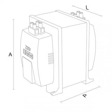 Transformador Autotransformador 3000VA Bivolt Ref. F30012 - Emplac