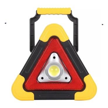Triângulo de Sinalização Lanterna de Emergência Led Solar Carregador de Celular
