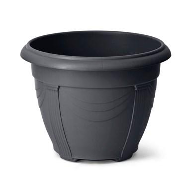 Vaso Plástico Romano Preto - Nutriplast