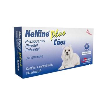 Vermífugo Helfine Plus para Cães 10 kg - 4 Comprimidos