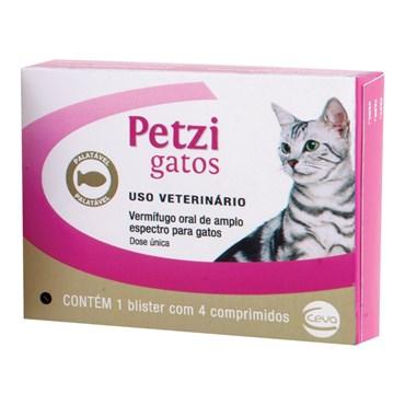 Vermífugo Petzi Gatos - 4 Comprimidos