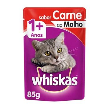 Whiskas Sachê Carne ao Molho - Gatos Acima de 1 Ano 85g