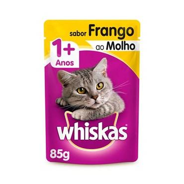 Whiskas Sachê Frango ao Molho - Gatos Acima de 1 Ano 85g