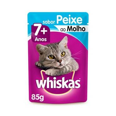 Whiskas Sachê Peixe ao Molho - Gatos Acima de 7 anos 85g