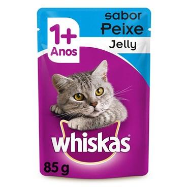 Whiskas Sachê Peixe Jelly - Gatos Acima de 1 Ano 85g